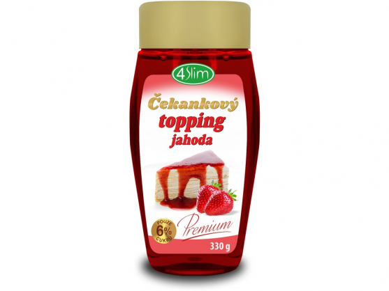 Topping jahoda 330g